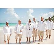 and Groomsmen White Wedding Attire For Man