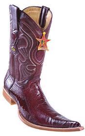 Leg Handmade Burgundy ~ Maroon ~ Wine Color Los Altos Mens Cowboy Boots Western Classics