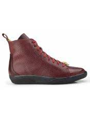 Elio Mens Dark Burgundy ~ Wine ~ Maroon Color Genuine Ostrich