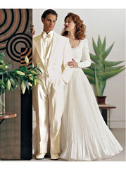 Men's Ivory ~ Cream OFF White Tailcoat Long Tuxedo Suit Jacket & Pants > Wedding look 