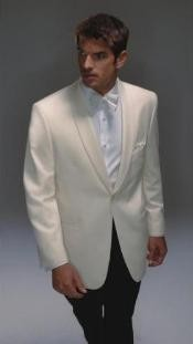 Dinner Jacket Single Breasted - Mens Ivory Dinner Jacket