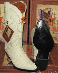 Altos Cream ~ Ivory ~ Off White Genuine Crocodile ~ World Best Alligator ~ Gator Skin Tail