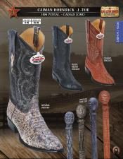 Los Altos J-Toe caiman ~ World Best Alligator ~ Gator Skin Hornback Mens Western Cowboy Boots Diff