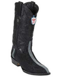 West J-Toe Black Rowstone Finish Boots
