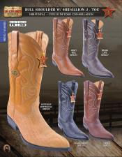 Los Altos J-Toe Bull Shoulder Mens Western Cowboy Boots Diff Colors/Sizes