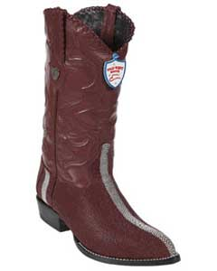 West J-Toe Burgundy ~ Maroon ~ Wine Color Rowstone Finish Boots