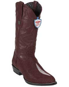 West J-Toe Burgundy ~ Maroon ~ Wine Color Single Stone Cowboy Boots