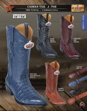 Los Altos J-Toe Genuine caiman ~ World Best Alligator ~ Gator Skin Tail Western Cowboy Boots Diff