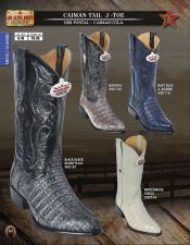 "Caiman Alligator leather Los Altos 15"" tall J-Toe Mens western cowboy boots DiffColors/Sizes ~ World Best Alligator"