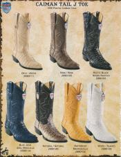 Best Alligator ~ Gator Skin Tail Cowboy Western Boots DiffColors/Sizes J-Toe Genuine Caiman ~  Oryx/Mink/Natural/White