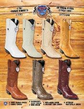 J Toe Genuine Caiman Hornback Cowboy Western Boots Multi-color