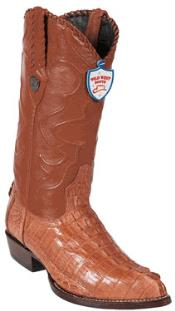 West J-Toe Cognac caiman ~ World Best Alligator ~ Gator Skin Tail Cowboy Boots