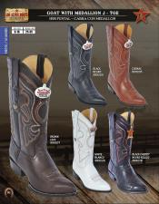 Los Altos J-Toe Goat w/ Medallion Mens Western Cowboy Boots Diff Colors/Sizes