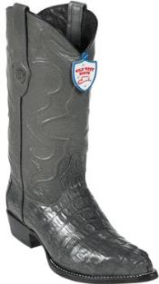 West J-Toe Grey ~ Gray caiman ~ World Best Alligator ~ Gator Skin Tail Cowboy Boots