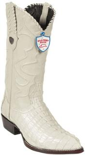 Wild West J-Toe Cream ~ Ivory ~ Off White caiman ~ World