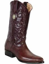 Mens Genuine Lizard Skin Handcrafted With Leather Insole Brown Dress Cowboy Boot