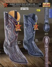 Los Altos J-Toe Lizard & Eel Mens Western Cowboy Boots Diff Colors/Sizes