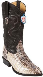 West J-Toe Natural caiman ~ World Best Alligator ~ Gator Skin Tail Cowboy Boots