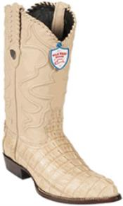 West J-Toe Oryx caiman ~ World Best Alligator ~ Gator Skin Tail Cowboy Boots