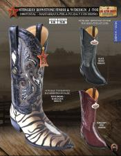 Altos J-Toe Stingray mantarraya skin Rowstone Mens Western Cowboy Boots Diff Colors/Sizes
