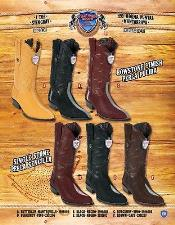 J Toe Genuine Stingray mantarraya skin Cowboy Western Boots Multi-color