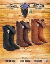 J Toe Genuine Dessert Medallion Cowboy Western Boots Multi-color