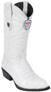West J-Toe White caiman ~ World Best Alligator ~ Gator Skin Tail Cowboy Boots