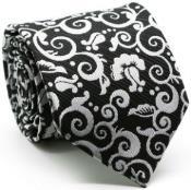 Mens Premium Jacquard Paisley Ties Black