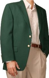 Green Two Button Blazer