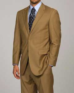 Camel ~ Khaki 2-button Suit