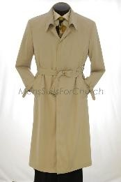 482AFZ All Weather Mens Dress Coat Full Length Trench Coat ~
