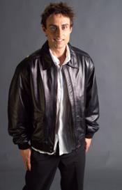 Mens Lamb Leather with Removable Liner Bomber Brown Jacket