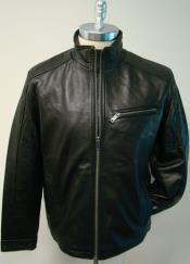 New Zealand LambSkin with zipper chest pocket Racing Brown Jacket