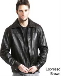 Genuine Lambskin Leather Jacket BlackBrown Available in Big and Tall