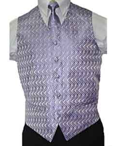 Mens Lilac Lavender Vest Tie 4-Piece Accessory Set Also available in Big and Tall Sizes
