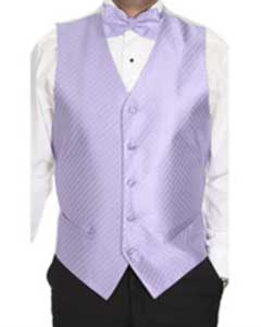 Lavender Patterned 4-Piece Vest Set Also available in Big and Tall Sizes