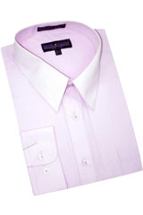 Lavender Cotton Blend Dress Shirt With Convertible Cuffs