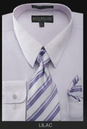 TIE - Lilac Lavender Mens Dress Shirt