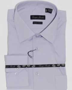 Modern-fit Lavender Mens Dress Shirt