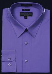 Slim Fit Dress Shirt - Lavender Color