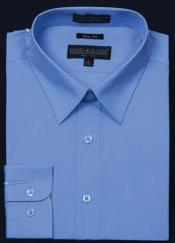 Slim Fit - Light Blue Color Mens Dress Shirt