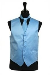 Tie Set Light Blue Buy 10 of same color Tie For