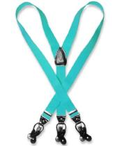 Mens turquoise ~ Light Blue Stage Party Blue Suspenders Y Shape