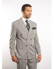 Men s Light Gray Plaid  Windowpane Can be Blazer