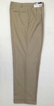 rise big leg slacks Mens Wide Leg Triple Pleat Pant Toast~Light