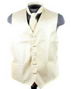 Tuxedo Wedding Vest ~ Waistcoat ~ Waist coat Tie Set Egg Yoke Buy 10 of same color