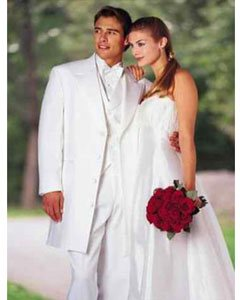 Modern Longer 36 Inch White zoot Tuxedo For Men