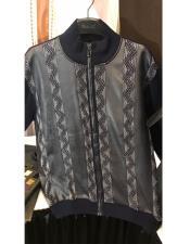 Mens Zipper Style Mock Neck Pull Over Long Sleeve Black/Ash Sweater