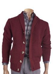 Wool Blend Burgundy ~