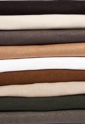 Mens Mock Neck Fine Gauge Knit Multi Long Sleeve Sweater
